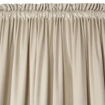 Zasłona Welwetowa Ellen 135x270cm - Beżowy - Taśma