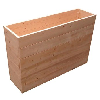 Wysoka prostokątna donica ogrodowa z litego drewna - Benito