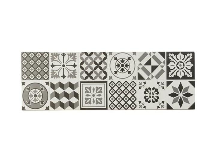 Dekor Konkrete GoodHome 20 x 60 cm black&white 0,96 m2 Płytka dekoracyjna Płytki ścienne 20x60 cm Kolor Biały