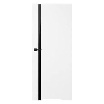 Drzwi z podcięciem Exmoor 60 prawe białe czarna szyba