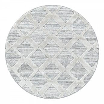 Dywan nowoczesny 3D La Casa romby szary koło 200 cm x 200 cm