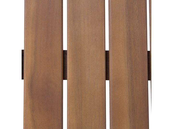 Zestaw ogrodowy szary jasne drewno akacjowe 2 ławki 1 fotel 1 leżak 1 stół poduchy retro Zestawy wypoczynkowe Zestawy kawowe Zawartość zestawu Stolik Tworzywo sztuczne Styl Vintage
