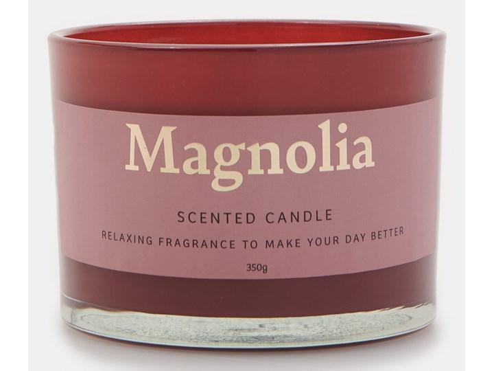 Sinsay - Świeca zapachowa Magnolia 350 g - Fioletowy Kategoria Świeczniki i świece Kolor Czerwony