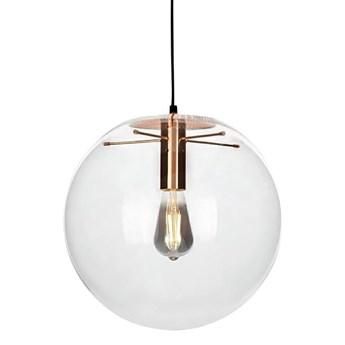 Szklana lampa wisząca Sandra 20 z miedzianymi wstawkami