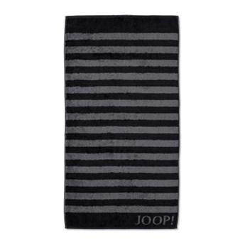 Ręcznik frotte czarny JOOP! Classic Stripes 1610