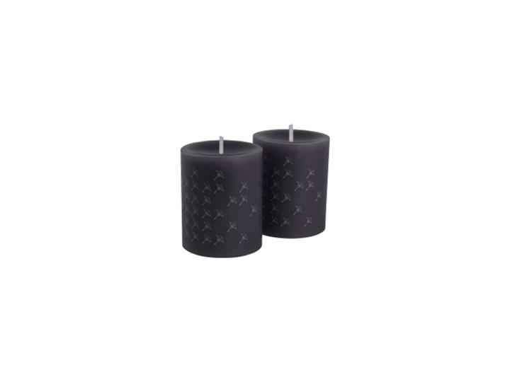 JOOP! Świeca Faded Cornflower graphit 8x10cm SET 2szt. Kategoria Świeczniki i świece Kolor Czarny