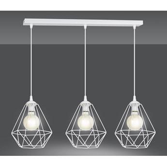 KIRA 3 WHITE 889/3 lampa wisząca zwis regulowany czarny druciaki LOFT biała