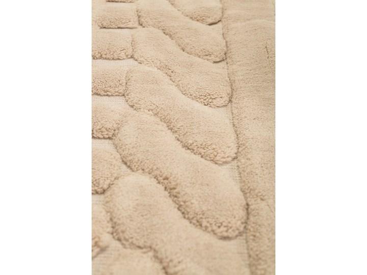 Komplet 2 beżowych bawełnianych dywaników łazienkowych Bambi Bawełna 60x100 cm Prostokątny Kategoria Dywaniki łazienkowe