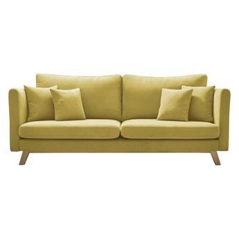 Żółta rozkładana sofa Bobochic Paris Triplo