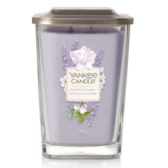Świeczka duża Yankee Candle Elevation Collection Sea Salt & Lavender Słoik duży 552 g