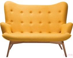 Kare Design Angels Wings Sofa Żółta 2 Osobowa Tkanina 145x93x99cm - 78500