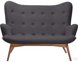 Kare Design Angels Wings Sofa Grafitowa 2 Osobowa Tkanina 145x93x99cm - 78502