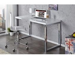 I & I White Desk Białe Biurko Lakierowane na Wysoki Połysk 120x60x75cm - i20999