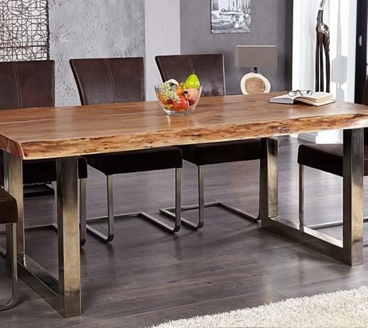 I I Tree Pad Designerski Drewniany St 200x100cm Drewno Akacjowe I20888 Sto Y Kuchenne