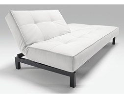 Innovation Istyle Splitback Sofa Rozkładana, Biała Skóra Ekologiczna 588, nogi do wyboru - 741010588