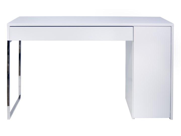 Temahome Prado Nowoczesne Białe Biurko Biały Lakier Matowy