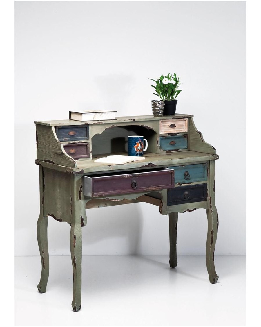 Kare Design Casolare Postarzany Drewniany Sekretarzyk Vintage 76888 Biurka Zdj Cia