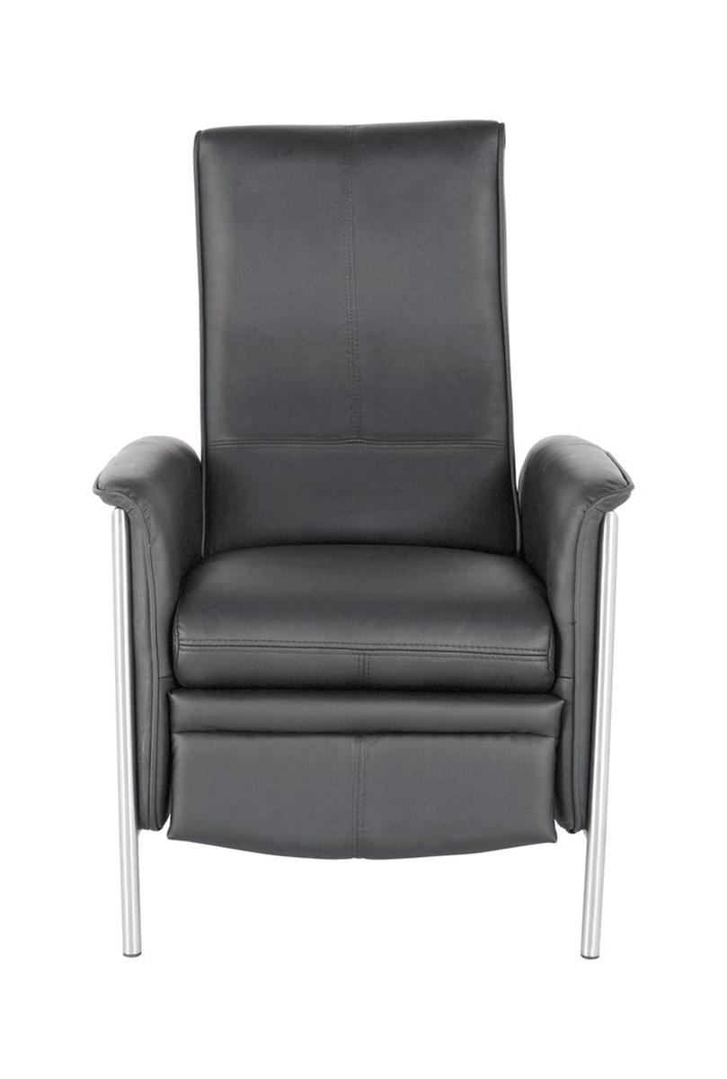 Kare design lazy fotel rozk adany czarny sk ra ekologiczna 104x72x91 75575 fotele zdj cia Kare fotel