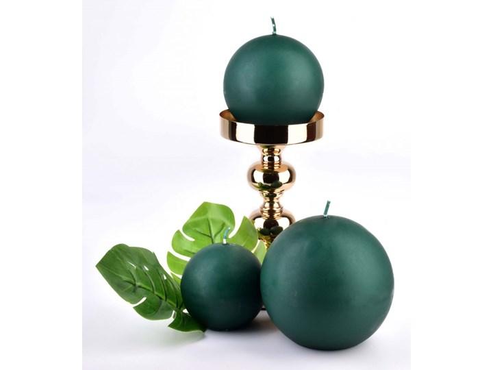 Świeca CLASSIC CANDLES Kula 12cm        zielona Kolor Zielony