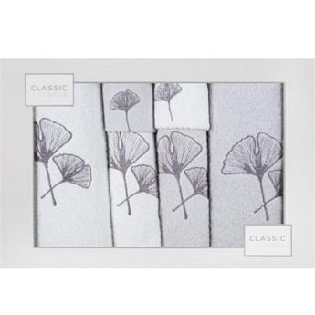 Kpl.6 ręczników BILOBA b-srebrny         380