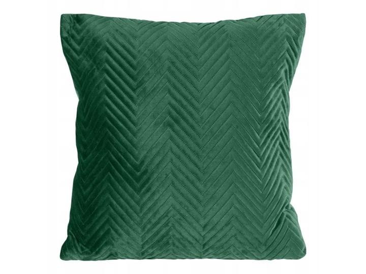 Poszewka SOFIA 45x45cm ciemno zielona 45x45 cm Poszewka dekoracyjna Kolor Zielony Kategoria Poduszki i poszewki dekoracyjne