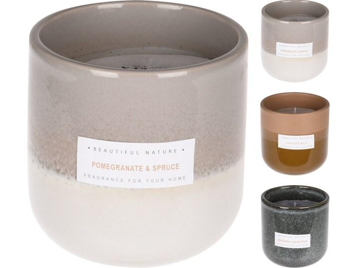 ŚWIECA ZAPACHOWA W CERAMICZNA W SŁOJU 9xh9,5cm Ceramika Kategoria Świeczniki i świece Świeca zapachowa Kolor Beżowy