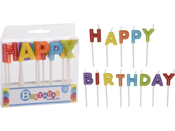 Kpl.13 świeczek urodzinowych Kategoria Świeczniki i świece Kolor Wielokolorowy