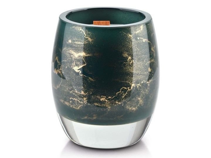 CRISTIE Świeca (wkład do lampionu)10x8cm zieleń butelkowa-marmur Świeca Świeca zapachowa Szkło Drewno Kategoria Świeczniki i świece
