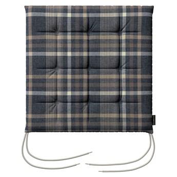 Siedzisko Karol na krzesło, niebiesko - beżowa krata, 40 × 40 × 3,5 cm, Edinburgh