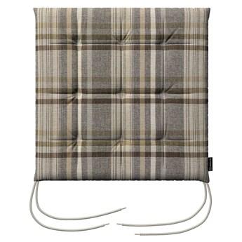 Siedzisko Karol na krzesło, brązowo - beżowa krata, 40 × 40 × 3,5 cm, Edinburgh