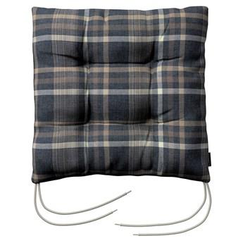 Siedzisko Jacek na krzesło, niebiesko - beżowa krata, 38 × 38 × 8 cm, Edinburgh