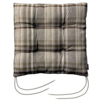 Siedzisko Jacek na krzesło, brązowo - beżowa krata, 38 × 38 × 8 cm, Edinburgh