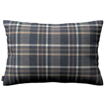 Poszewka Kinga na poduszkę prostokątną, niebiesko - beżowa krata, 60 × 40 cm, Edinburgh
