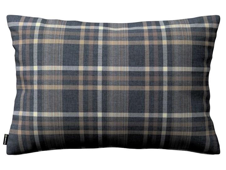 Poszewka Kinga na poduszkę prostokątną, niebiesko - beżowa krata, 60 × 40 cm, Edinburgh Poszewka dekoracyjna Żakard 40x60 cm 45x65 cm Prostokątne Kategoria Poduszki i poszewki dekoracyjne