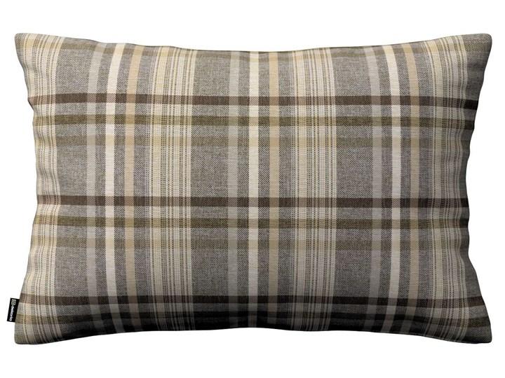 Poszewka Kinga na poduszkę prostokątną, brązowo - beżowa krata, 60 × 40 cm, Edinburgh 45x65 cm 40x60 cm Prostokątne Poszewka dekoracyjna Żakard Kolor Brązowy Wzór Geometryczny