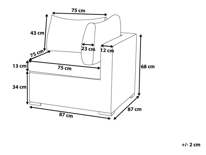 Zestaw mebli ogrodowych brązowy rattan szare poduchy modułowy narożnik fotel stolik kawowy Zestawy kawowe Tworzywo sztuczne Kategoria Zestawy mebli ogrodowych Technorattan Zestawy modułowe Zestawy wypoczynkowe Aluminium Zawartość zestawu Fotele