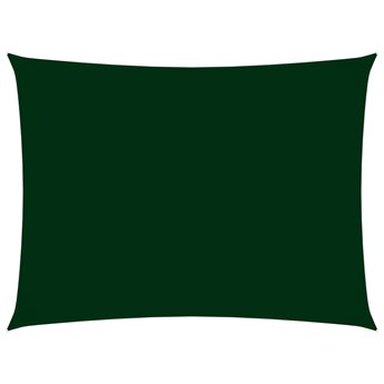 vidaXL Prostokątny żagiel ogrodowy z tkaniny Oxford, 5x7 m, zielony