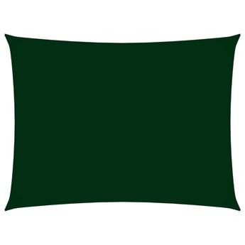 vidaXL Prostokątny żagiel ogrodowy z tkaniny Oxford, 6x7 m, zielony