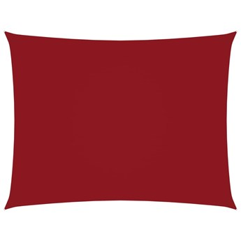 vidaXL Prostokątny żagiel ogrodowy z tkaniny Oxford, 6x7 m, czerwony