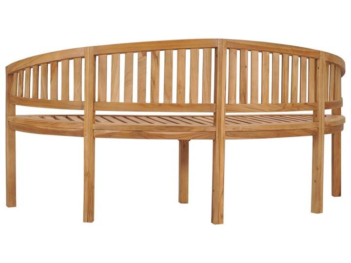 vidaXL Ławka w kształcie banana, 180 cm, lite drewno tekowe Kategoria Ławki ogrodowe