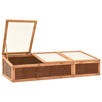 vidaXL Inspekt, 180x80x45 cm, lite drewno sosnowe i wiklina