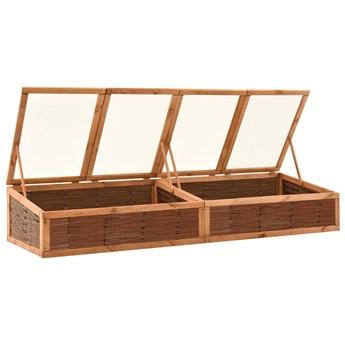 vidaXL Inspekt, 240x80x45 cm, lite drewno sosnowe i wiklina