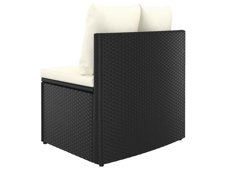 vidaXL 9-częściowa sofa ogrodowa z poduszkami, rattan PE, czarna Tworzywo sztuczne Zestawy wypoczynkowe Stal Kolor Czarny Technorattan Kategoria Zestawy mebli ogrodowych