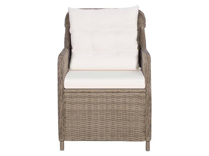 vidaXL 9-częściowy zestaw mebli ogrodowych, brązowy Stal Rattan Zawartość zestawu Krzesła Stoły z krzesłami Tworzywo sztuczne Zawartość zestawu Leżak