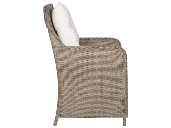 vidaXL 9-częściowy zestaw mebli ogrodowych, brązowy Rattan Stoły z krzesłami Stal Tworzywo sztuczne Zawartość zestawu Stół