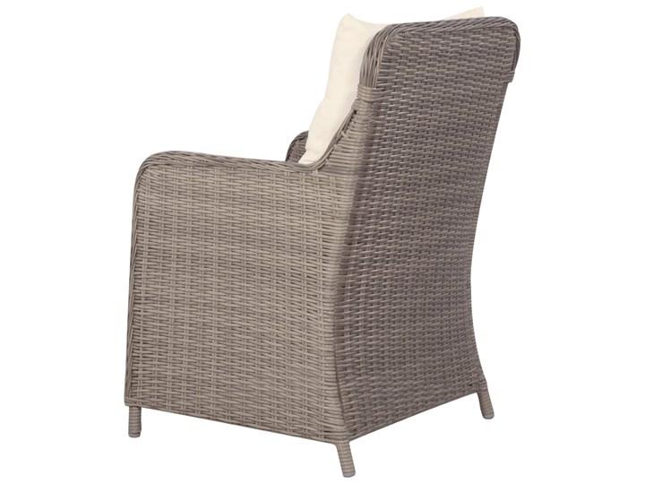 vidaXL 9-częściowy zestaw mebli ogrodowych, brązowy Tworzywo sztuczne Zawartość zestawu Krzesła Stal Stoły z krzesłami Rattan Zawartość zestawu Leżak