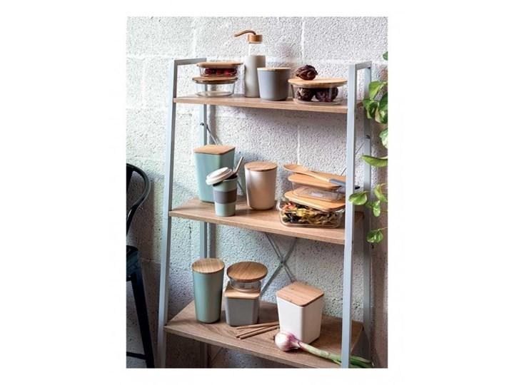 Szklany pojemnik Tognana Natural Love, prostokątny 750 ml Drewno Szkło Kolor Brązowy