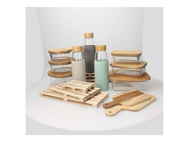 Szklany pojemnik Tognana Natural Love, prostokątny 250 ml Kategoria Pojemniki i puszki Drewno Szkło Na żywność Kolor Przezroczysty