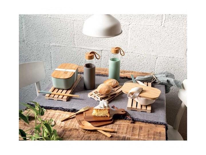 Szklany pojemnik Tognana Natural Love, prostokątny 250 ml Na żywność Szkło Drewno Kolor Przezroczysty Typ Pojemniki