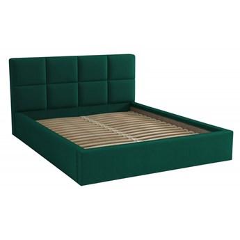 Łóżko Tapicerowane Alaska 160x200 Królewska Zieleń Tkanina Kronos